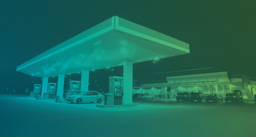 Gas station image